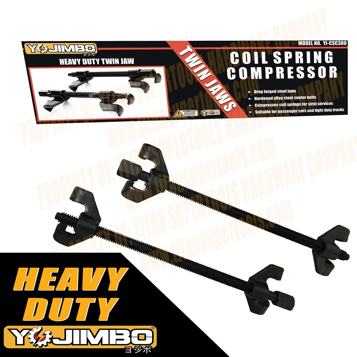 Yojimbo Yj-Csc380 Twin Jaw Heavy Duty Curling Coil Spring Strut Compressor Remover Installer Suspension Tool (black) By Mount Gallelli.