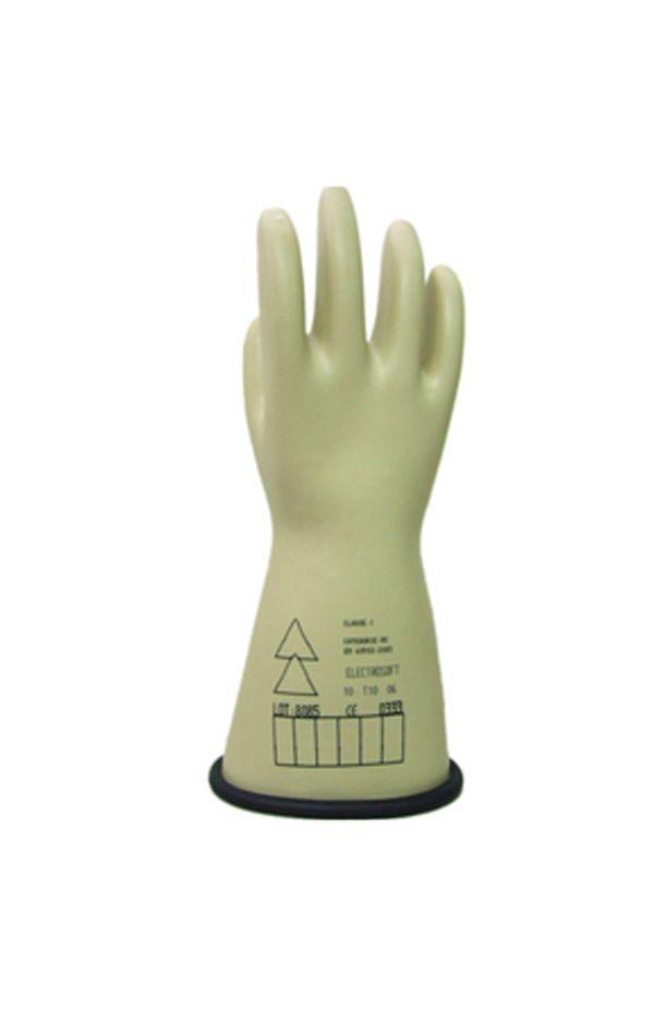Honeywell 2091913 - Electrosoft Class 1 Latex Safety Gloves Arm Hand  Protection Electrical Gloves High Voltage Gloves Lineman Glove Utility  Glove