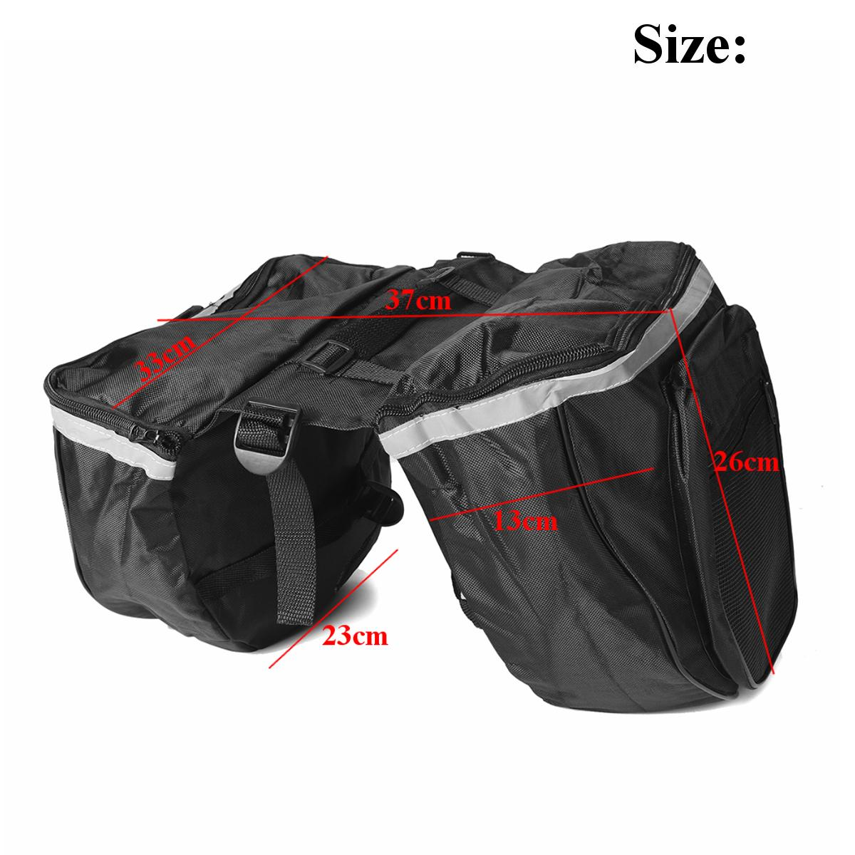 Flameer Motorcycle Riding Rear Seat Super Light Tail Side Bag Trunk Luggage Large Capacity for Biker Black