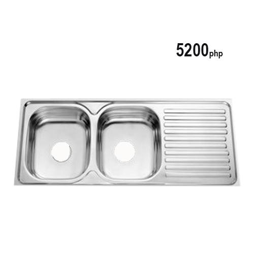 Ruvati Usa 2bowl Kitchen Sink With Tap Drain 120x50x16 5cm
