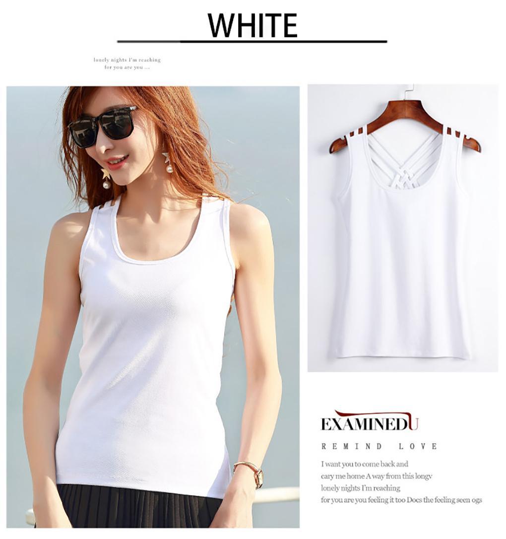 c7441f18684 Women s Camisole 100% cotton vest Sando Racerback fashion T-shirt women s  blouse top 333
