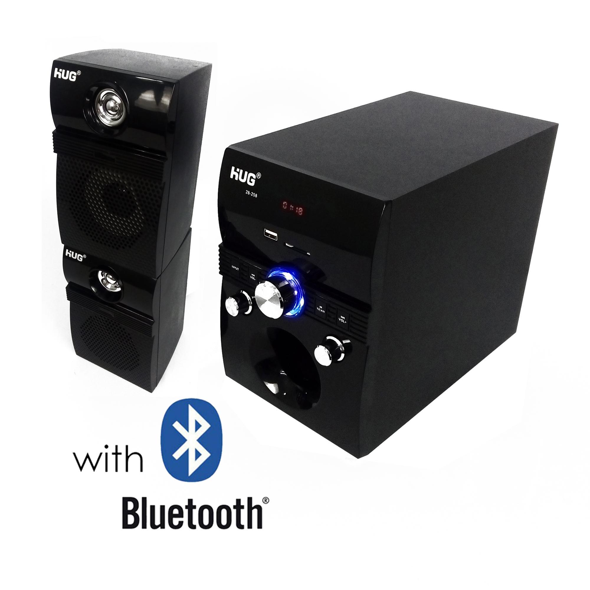 HUG H28-258 Subwoofer Speaker w/ USB slot, built-in FM Radio