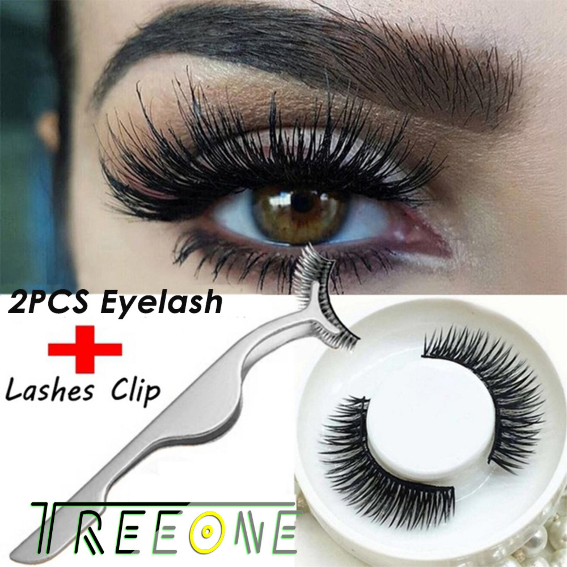 1 Pair 3D Eyelashes Magnet Magnetic False Eyelashes Magnetic Eye Lashes Makeup Kit + 1Pcs False Eyelash Clip Philippines