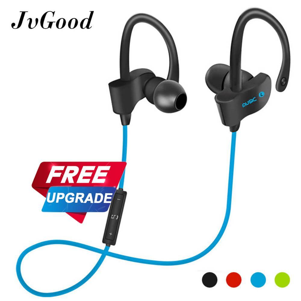 JvGood Bluetooth Headphones Wireless Sports Earphones w/ Mic HD Stereo Sweatproof Earbuds for Gym Running