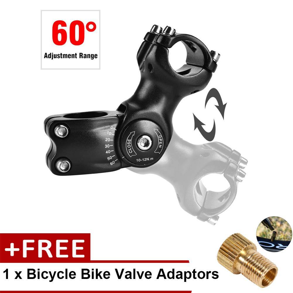 Wake Bikes Handlebar Stem Cycling Accessories for Mountain Bike Road Bicycle Black - intl