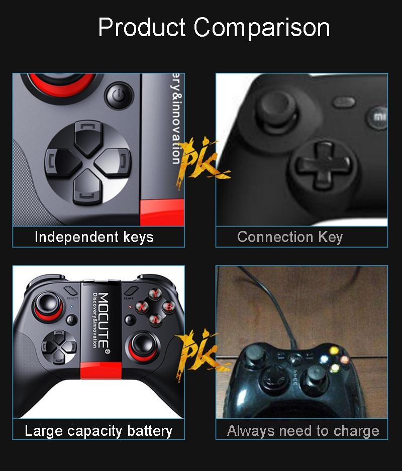 Mocute 054 Bluetooth Gamepad Mobile Joypad Android Joystick Wireless VR  Controller Smartphone Tablet PC Phone Smart TV Game Pad - intl