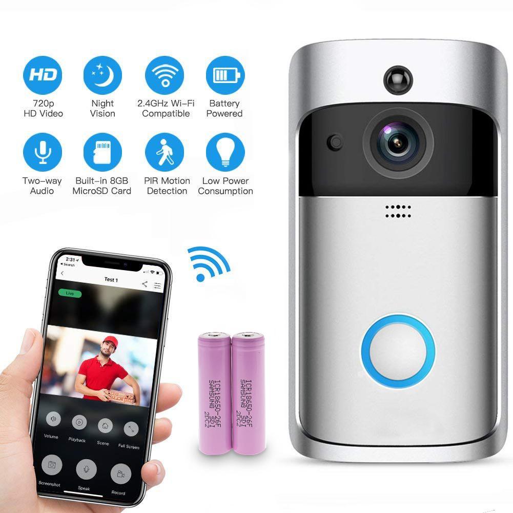 CORDYA M3 Video Doorbell, Smart Doorbell Alarm Wifi Security Camera