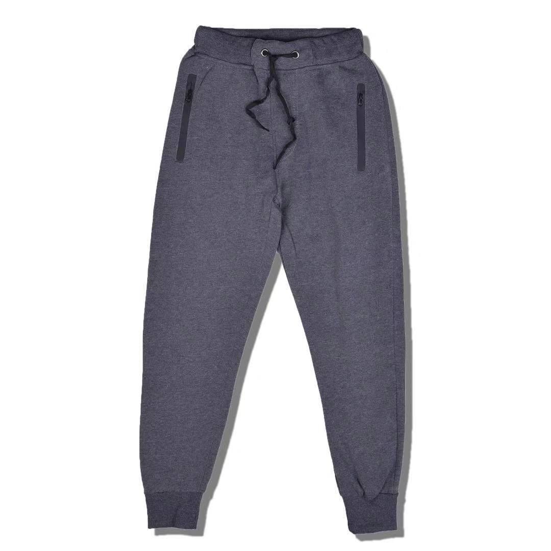 e558727e MOSO Plain Cotton Material Unisex Garterized Jogger Pants With Zippered  Pocket