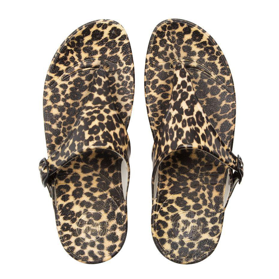 Cheap And Best Quality Women Fitflop Brown Superjelly Leopard