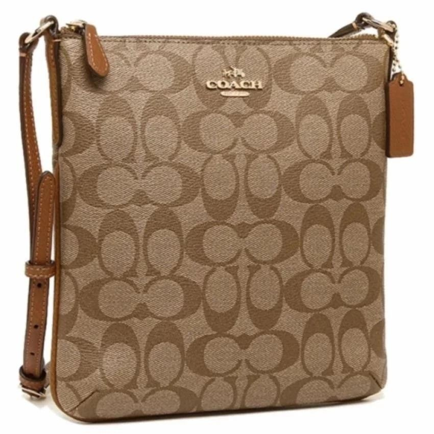 45148b714560 Coach North South Crossbody Small Sling Bag Signature - Brown