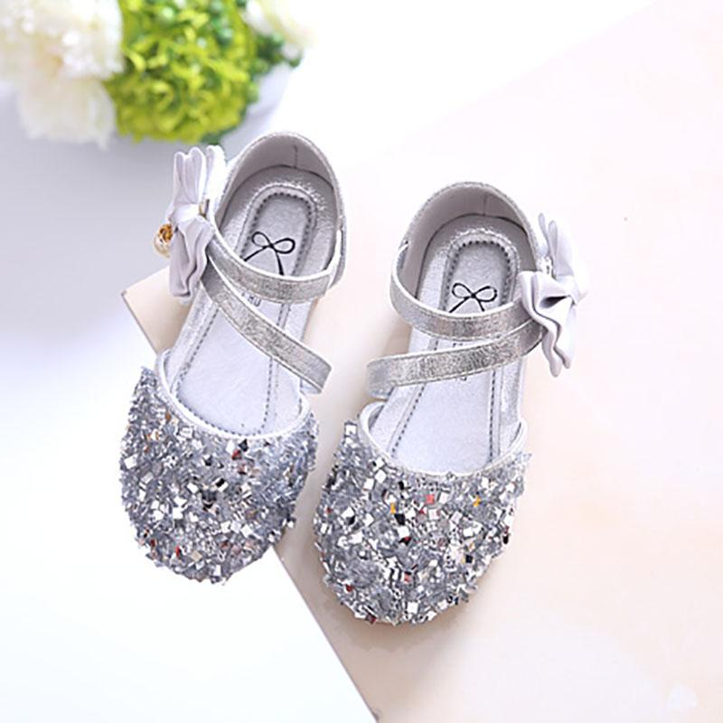 f5a3bbaf41af Girls Man-made Diamond Princess Shoes 2019 Spring And Summer New Style  Children Shoes Korean