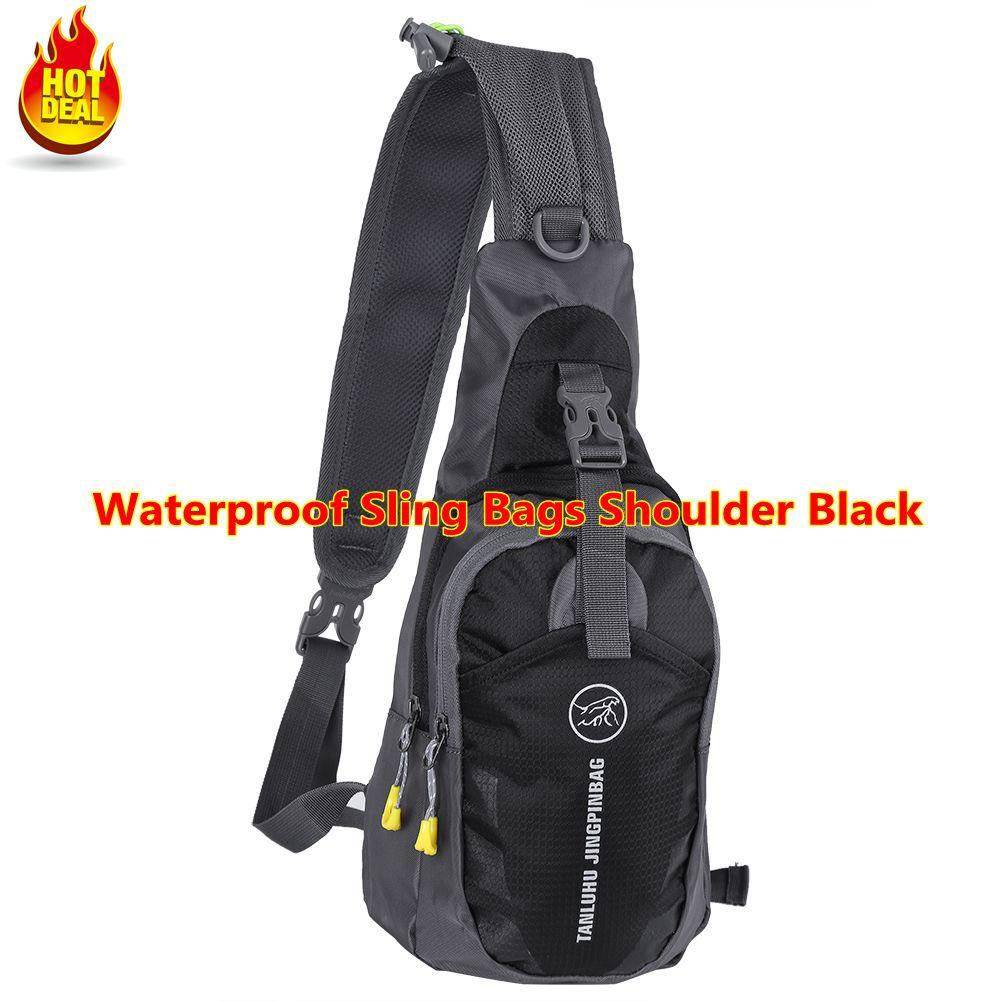 fdc2d6a334c3 Qianmei Multipurpose NYLON CLOTH Waterproof Sling Bags Shoulder Chest  Backpack Cross Body Triangle Pack - intl