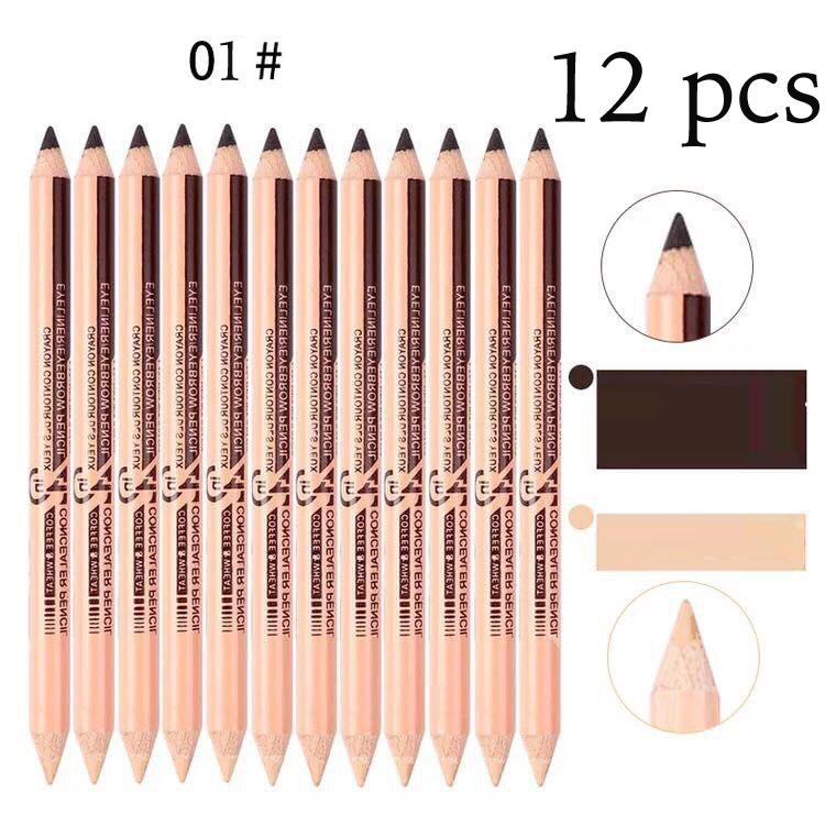 2 in 1 Eyeliner Eyebrow Pencil Contour Concealer Pencil (12 pieces) Philippines
