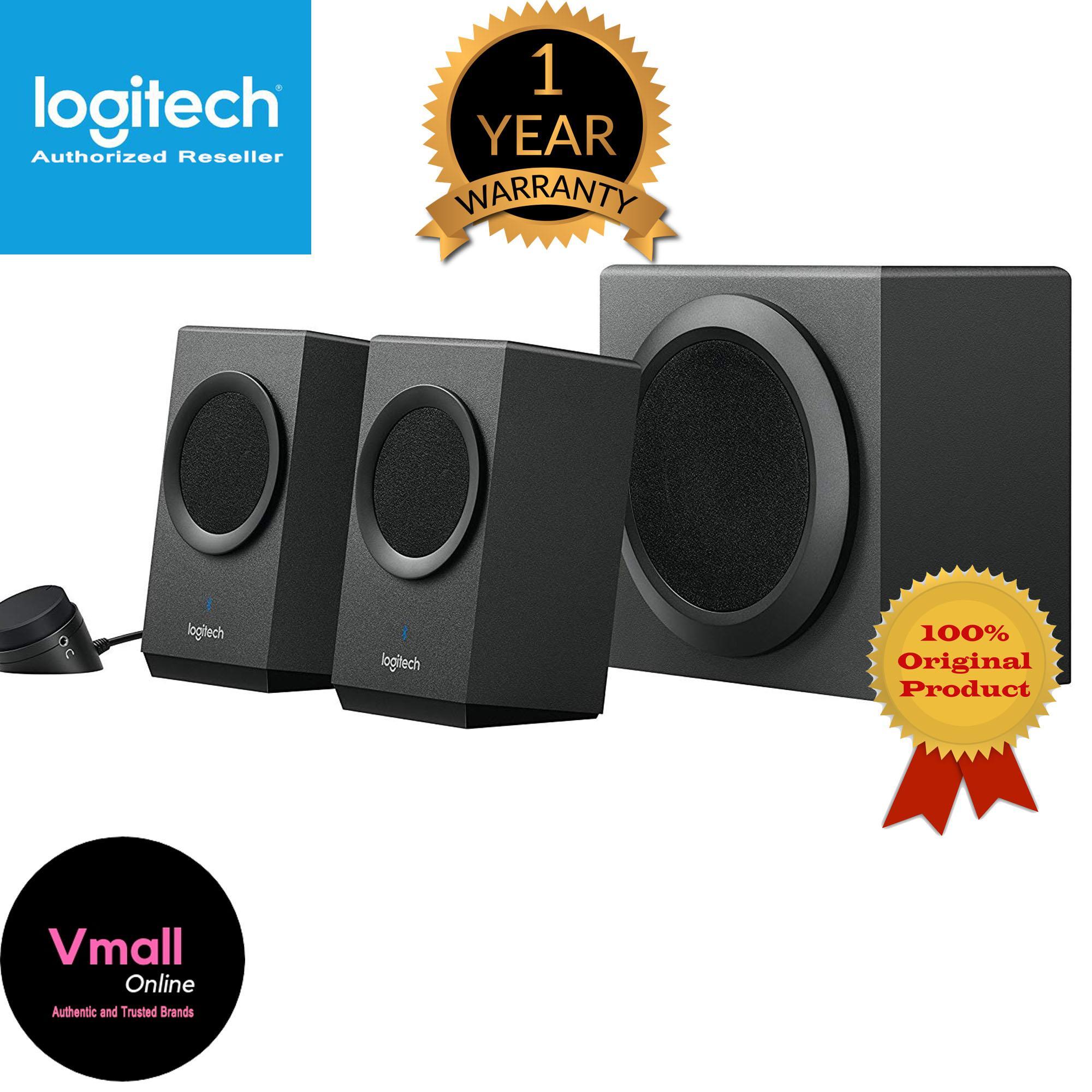 245d338971f Logitech Z337 Bluetooth Wireless 2.1 PC Speakers with Subwoofer, 80 Watts  Peak/40 Watts