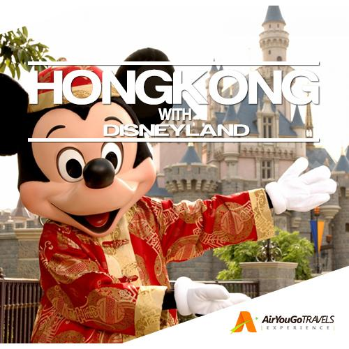 3d2n Hongkong + Disneyland Land Arrangement Package For 1 Person By Air You Go Travels Experience.