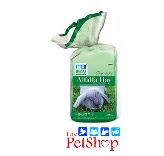 Mr. Hay Choppy Alfalfa Hay 500g By Thepetshop.
