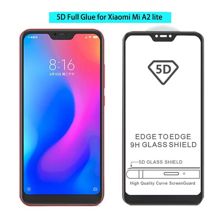 Xiaomi Mi A2 Lite / Redmi 6 Pro 5D Technology Full Adhesive Full Coverage Tempered Glass