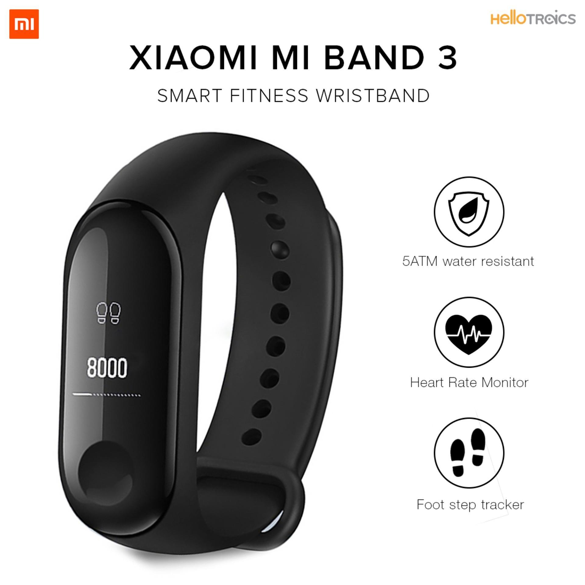 Xiaomi Mi Band v 3 Digital Smart Band Heart Rate Monitor Fitness Black