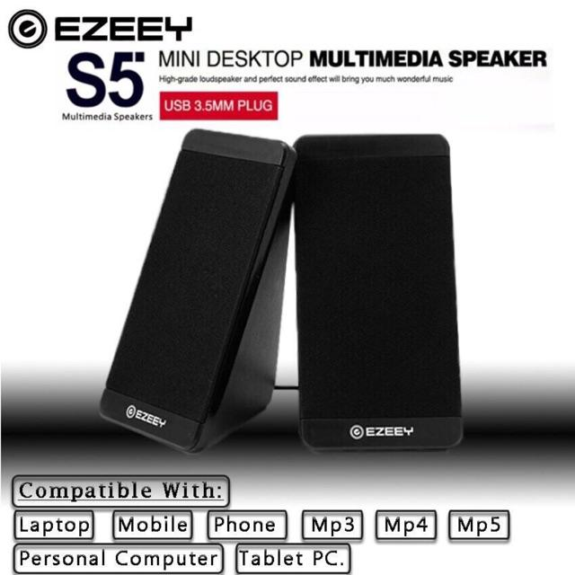 09bcd6daed1 EZEEY S5 Portable USB 3.5mm Multimedia Speaker for Desktop Laptop Notebook  Tablet FM Radio SmartPhones