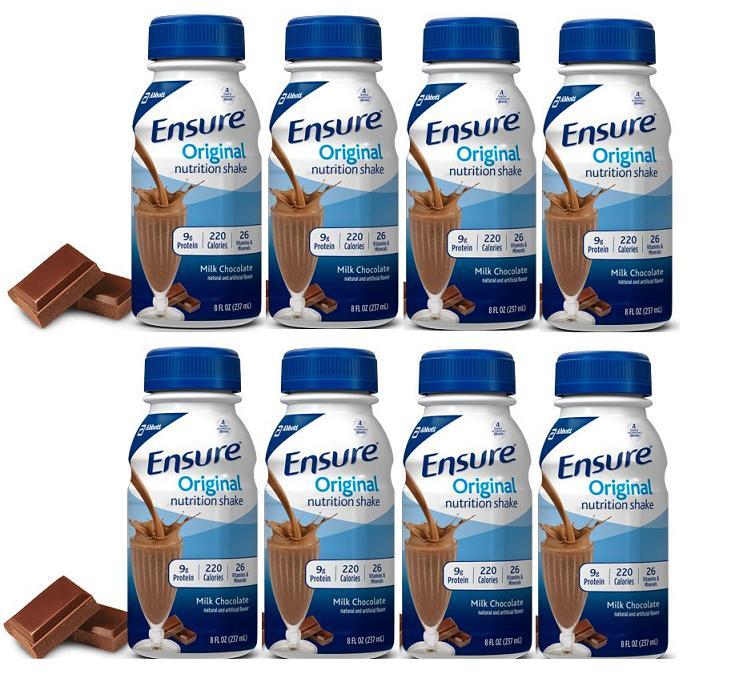 Ensure Original Milk Chocolate Nutrition Shake 237ml Set of 8