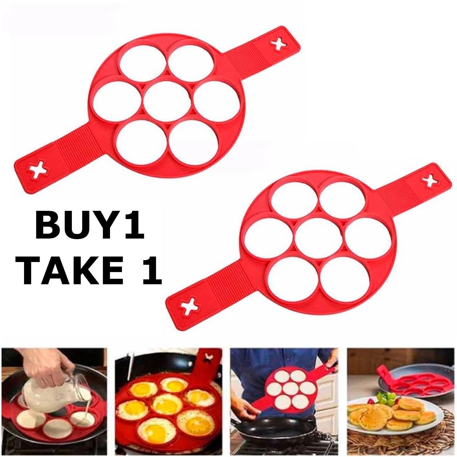 Gk Buy 1 Take1 7holes Silicone Perfect Pancakes Pan Breakfast Maker Egg Flippin Fantastic - Intl By Chloe Lifeneeds.