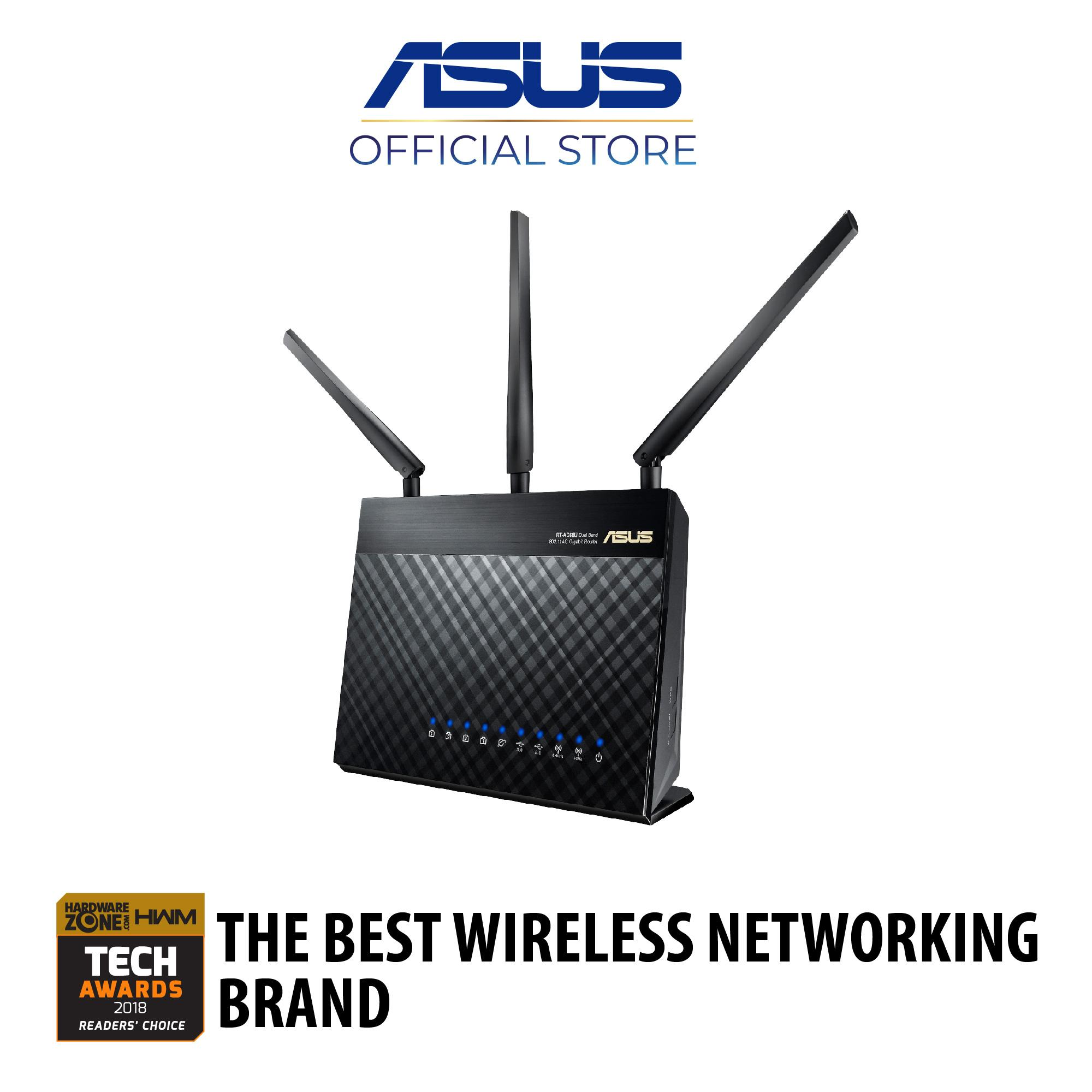 Asus Philippines Routers For Sale Prices Reviews Lazada Rt Ac3200 Tri Band Wireless Gigabit Router Ac68u Ac1900 Dual Wifi Aimesh Mesh System