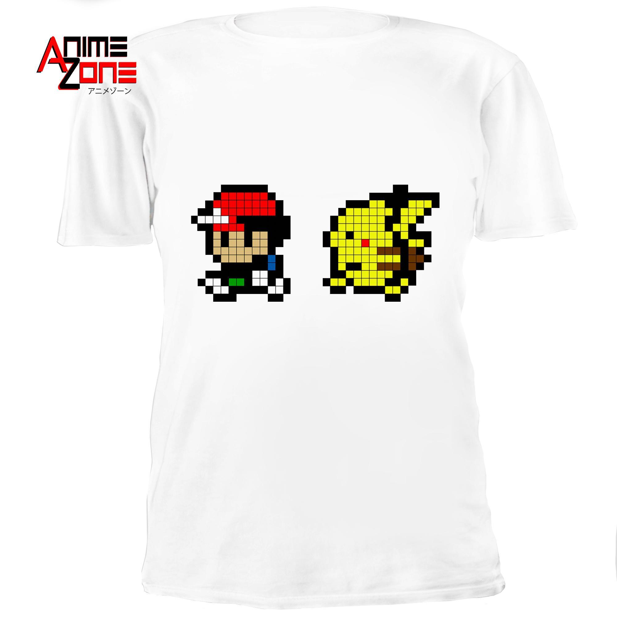 90b0525f Anime Zone POKEMON Edition Cotton Tops Printed Unisex T-Shirt (White)