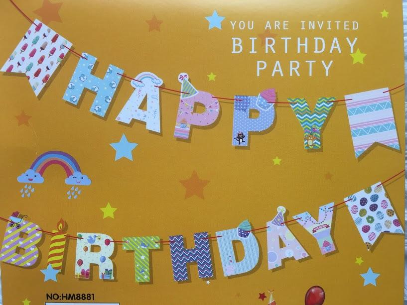 Cute Happy Birthday Party Banner