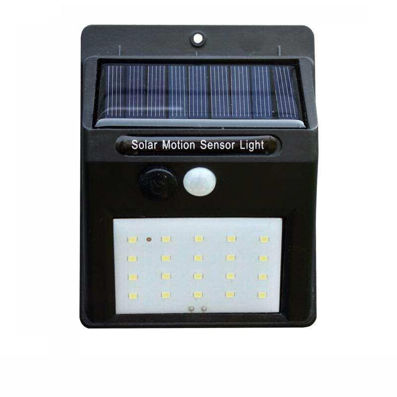 Solar Motion Sensor Fo Driven Light Waterproof 20 Led Pir Wall Great