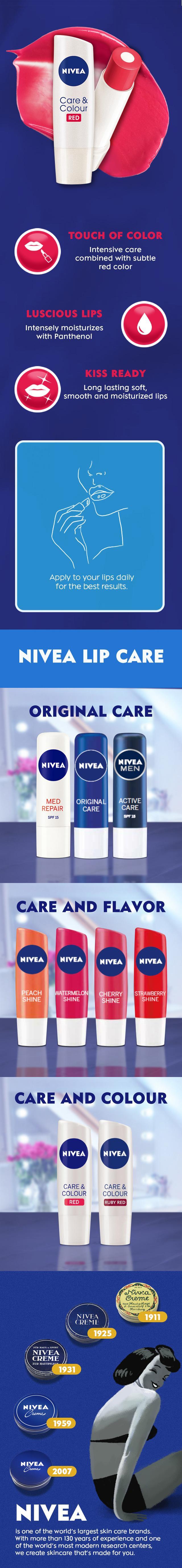 Nivea Lip Care Colour Red 48g Lazada Ph Balm Specifications Of