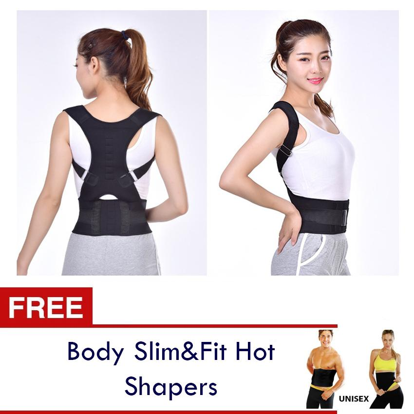 e59ccc8ac8945 Adjustable Magnetic Therapy Posture Corrector Brace Shoulder Back Support  Belt for Male Female Braces   Supports