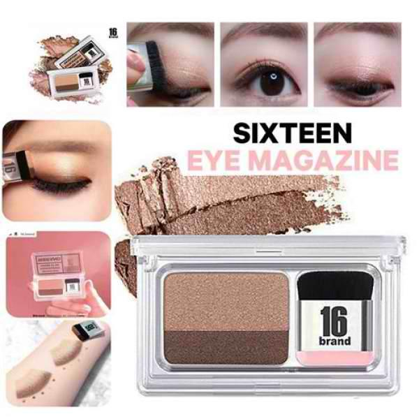 (#2 Hello Monday) Eye Shadow Kit 16 BRAND Eye Magazine Eye Shadow Quick and Easy Eyeshadow Kit with Brush2.5g Philippines