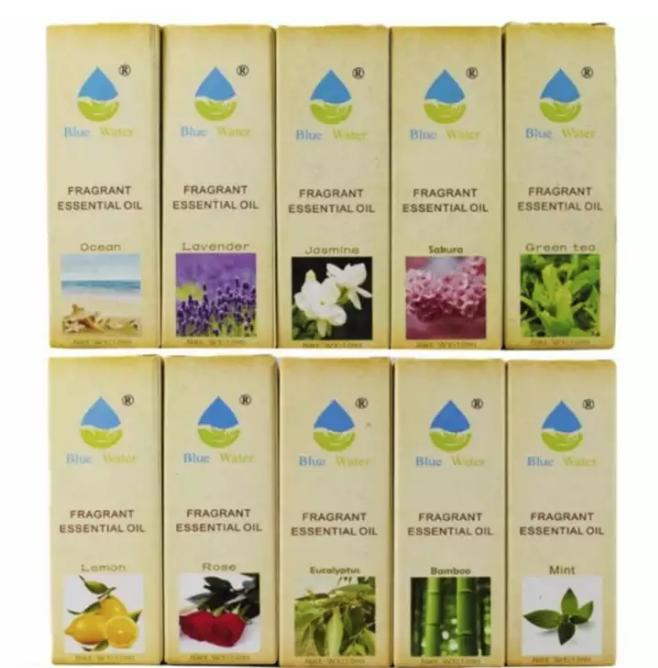 Blue Water 10ml Set Of 10 Aromatherapy Essential Oils For Humidifie (assorterd Scents) By Myshop.ph.