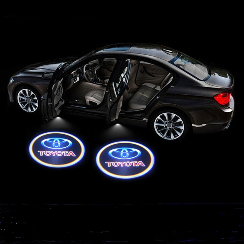 2Pcs LED Car Door Welcome Light for TOYOTA Universal Car Welcome lamp