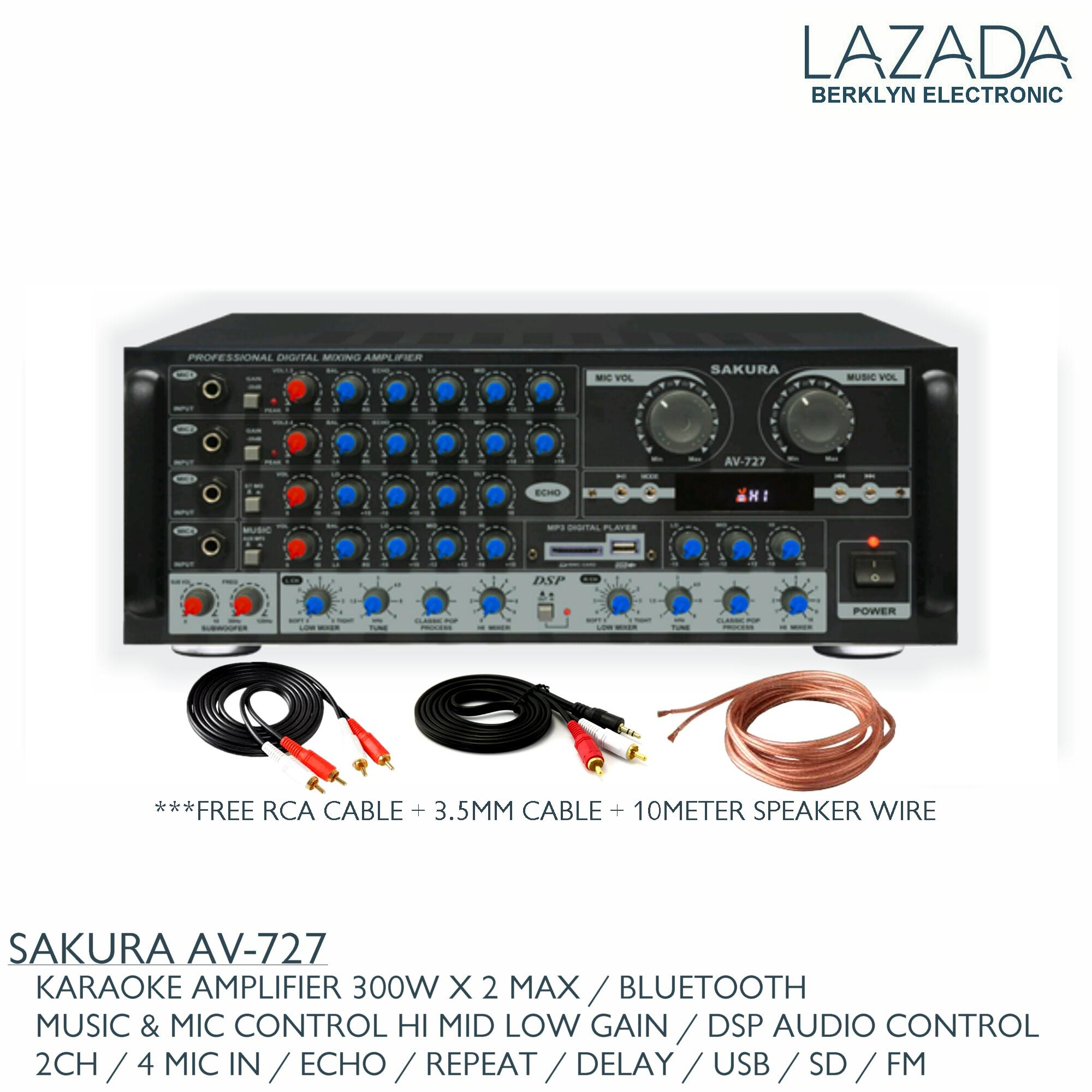 Sakura Philippines Price List Karaoke Mp3 Mixing Power Amp 10000w Circuit Diagram Electronic Design Av 727 Amplifier Usb Sd Bluetooth Fm 300w X 2