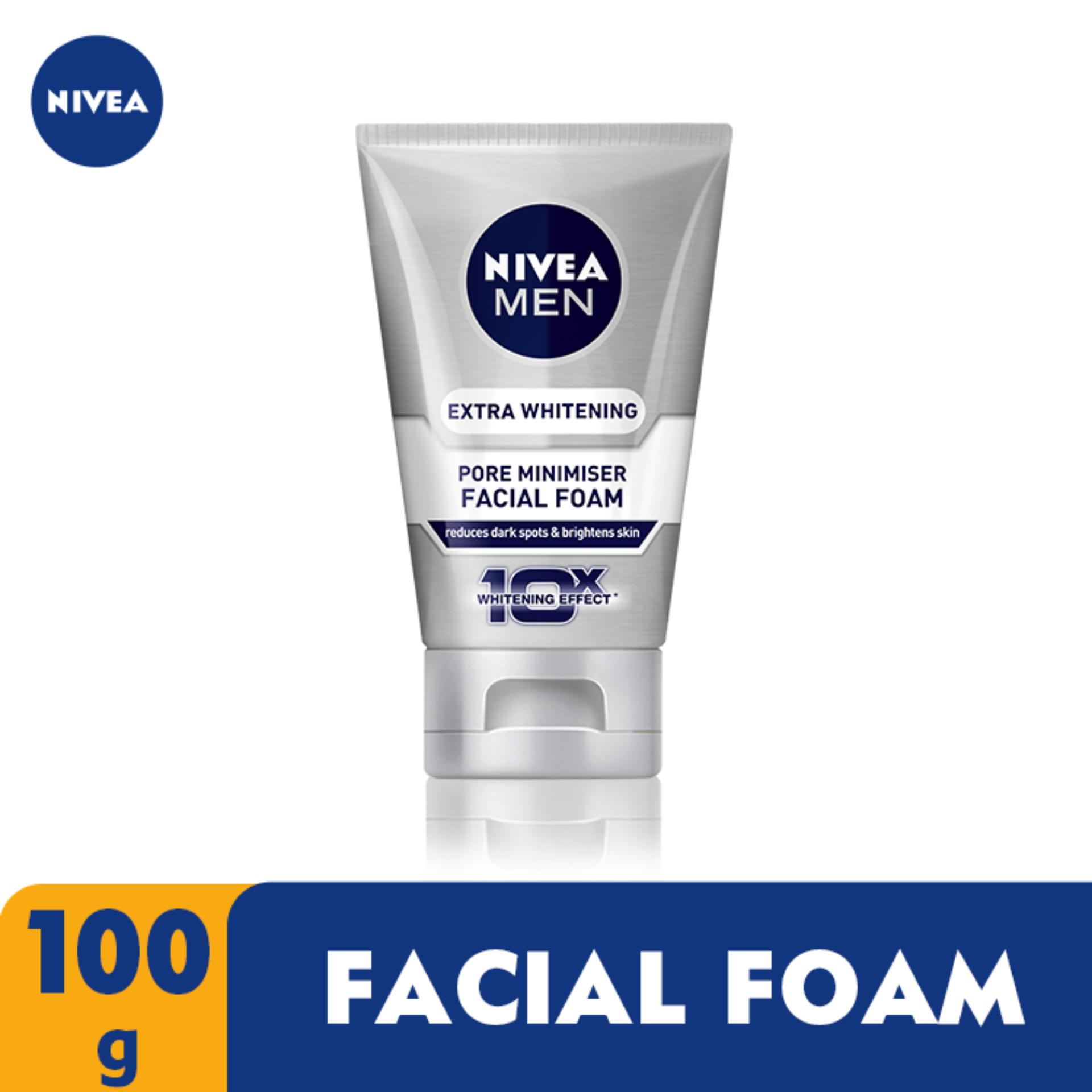 NIVEA for Men Extra Whitening Pore Minimiser Facial Foam 100g