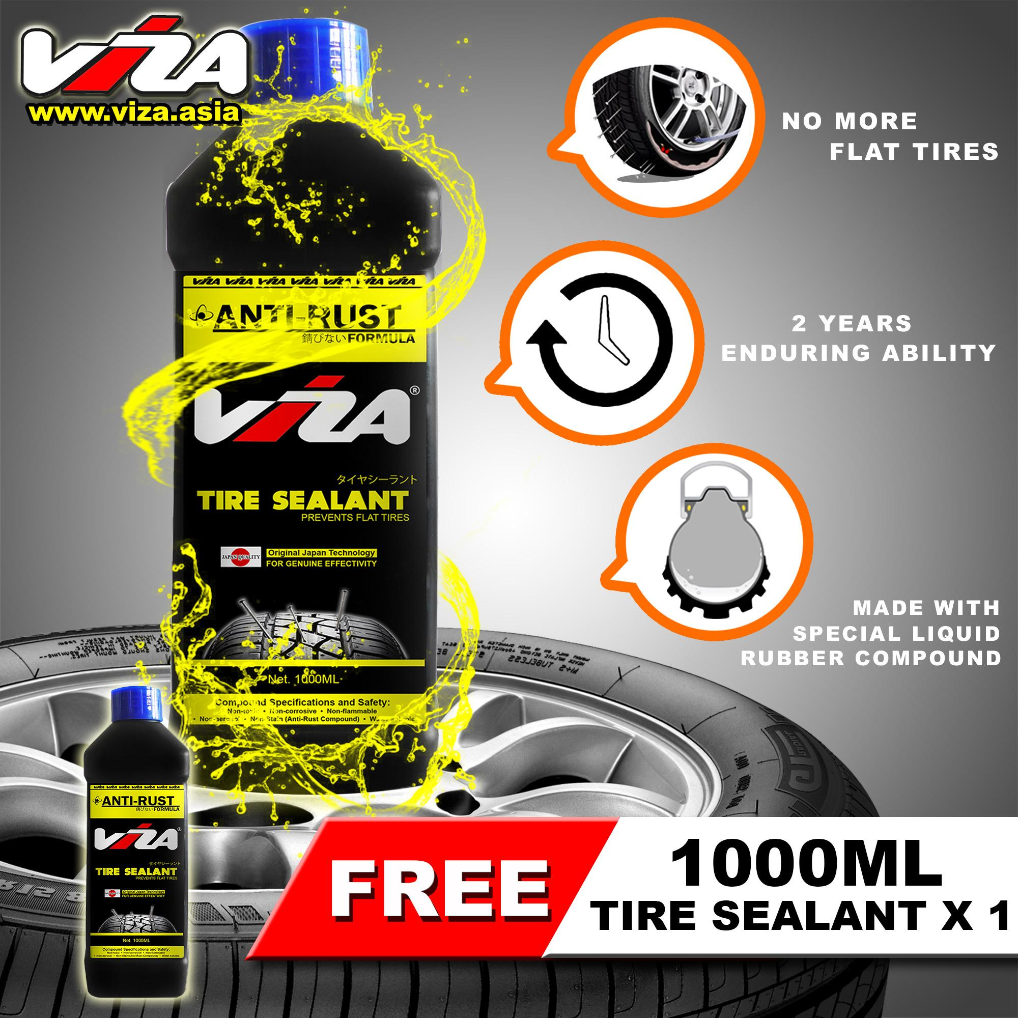 Viza® Premium Tire Tyre Sealant 1l (bundle Of 2 X 1000ml) By Viza International.