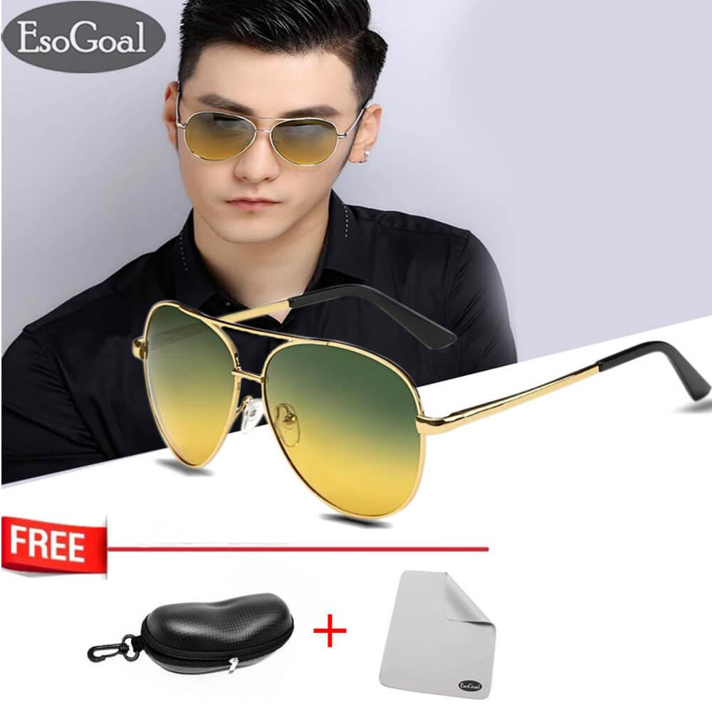 EsoGoal Day Night Vision Sunglasses Glasses Anti-glare Driving Eyewear Polarized Lens Unisex - intl
