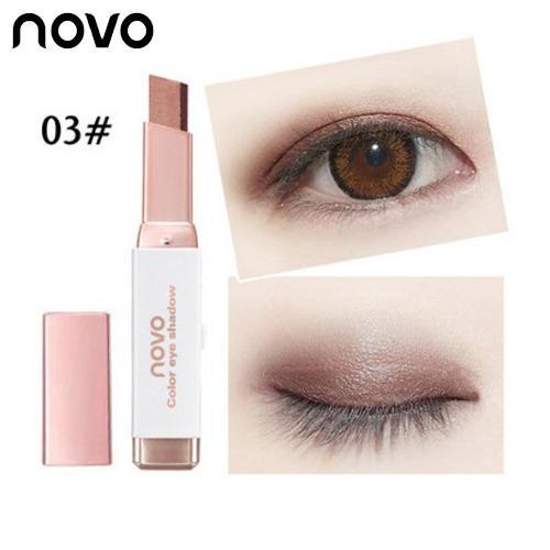 NOVO Eye Shadow Two Tone Gradient Eye Shadow Velvet Korean Style Eye Makeup Cream Shadow Stick Sleek Waterproof Nude Shimmer Metallic Eye Shadow Pencil Philippines