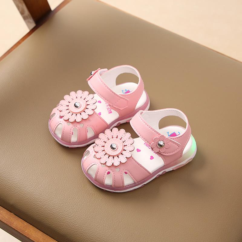 Children's Sandals 2018 Summer New Style Baby Shoes Girls' Shoes Light  Small Sandals 1-