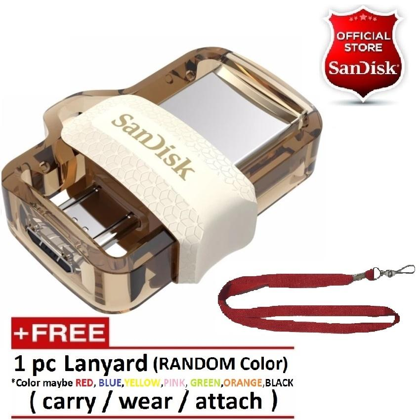 Sandisk 32 Gb Otg Dual Drive M3.0 Usb 3.0 For Pc And Android Otg Devices Gold W/ Free Lanyard By It Online Mart.