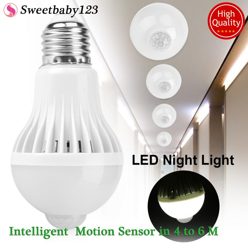 Lights For Sale Lighting Prices Brands Review In Philippines Adjustable Fluorescent Fixtures On Wiring Series E27 Intelligent Detection Pir Infrared Motion Sensor Light Led Lamp Bulb 5w Intl