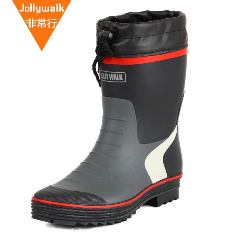 7e10752ae61 Jolly Walk Boots\n Fashion Rain Boots man Rain Boots Rain Shoes Fishing  Shoe man Anti-slip Waterproof Rubber Shoes