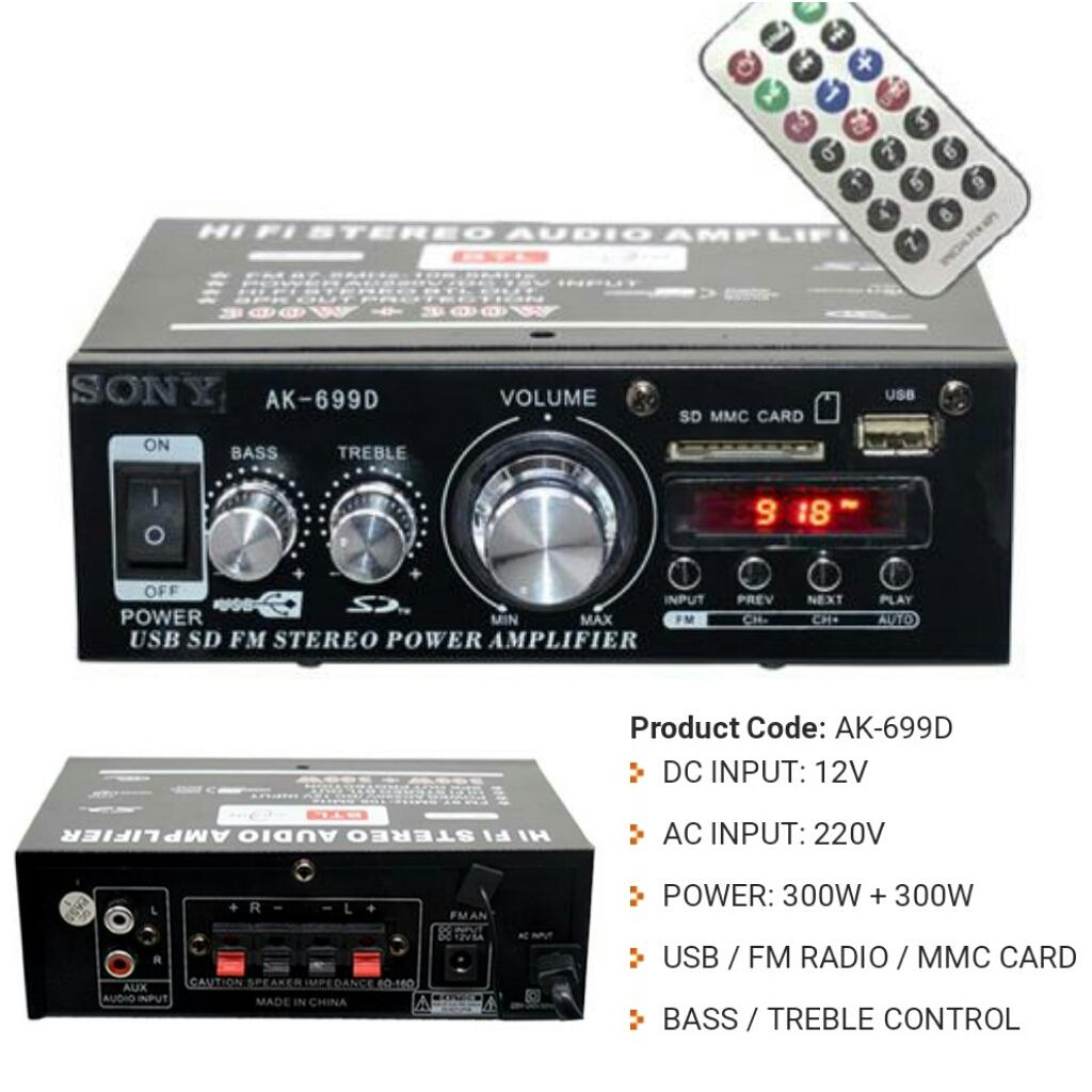 Audio Amplifier For Sale Av Receiver Prices Brands Specs In 3 Band Dual Graphic Equalizer Circuit Sony Inspired Ak 699bt Ac Dc 300 Watts X 2ch W Usb