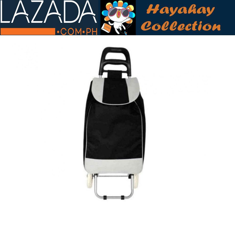 Fashion Folding Wheeled Shopping Trolley Bag (black) By Hayahay.