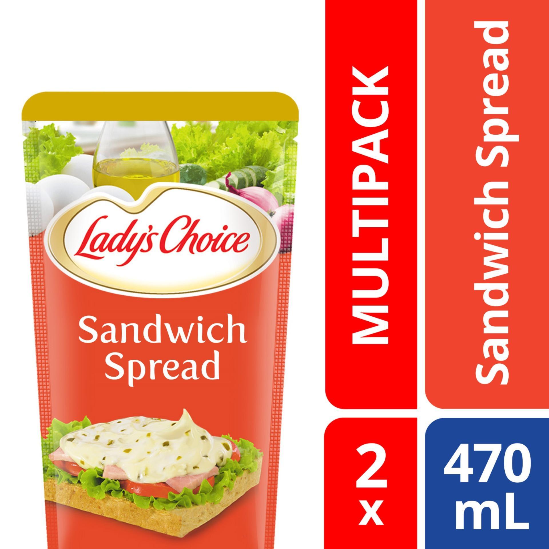 Ladys Choice Sandwich Spread Doy 470ml 2x By Unilever Foods.