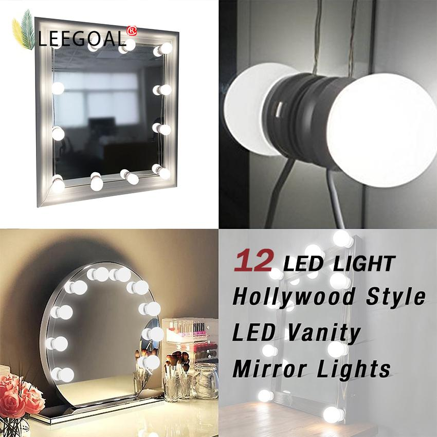 leegoal Makeup Mirror Lights Hollywood Style LED Vanity Mirror Lights LED Bulbs Kit For Makeup Dressing Table With Touch Dimmer And Power Supply Plug In Lighting Fixture Strip( Mirror Not Included ) - intl Philippines