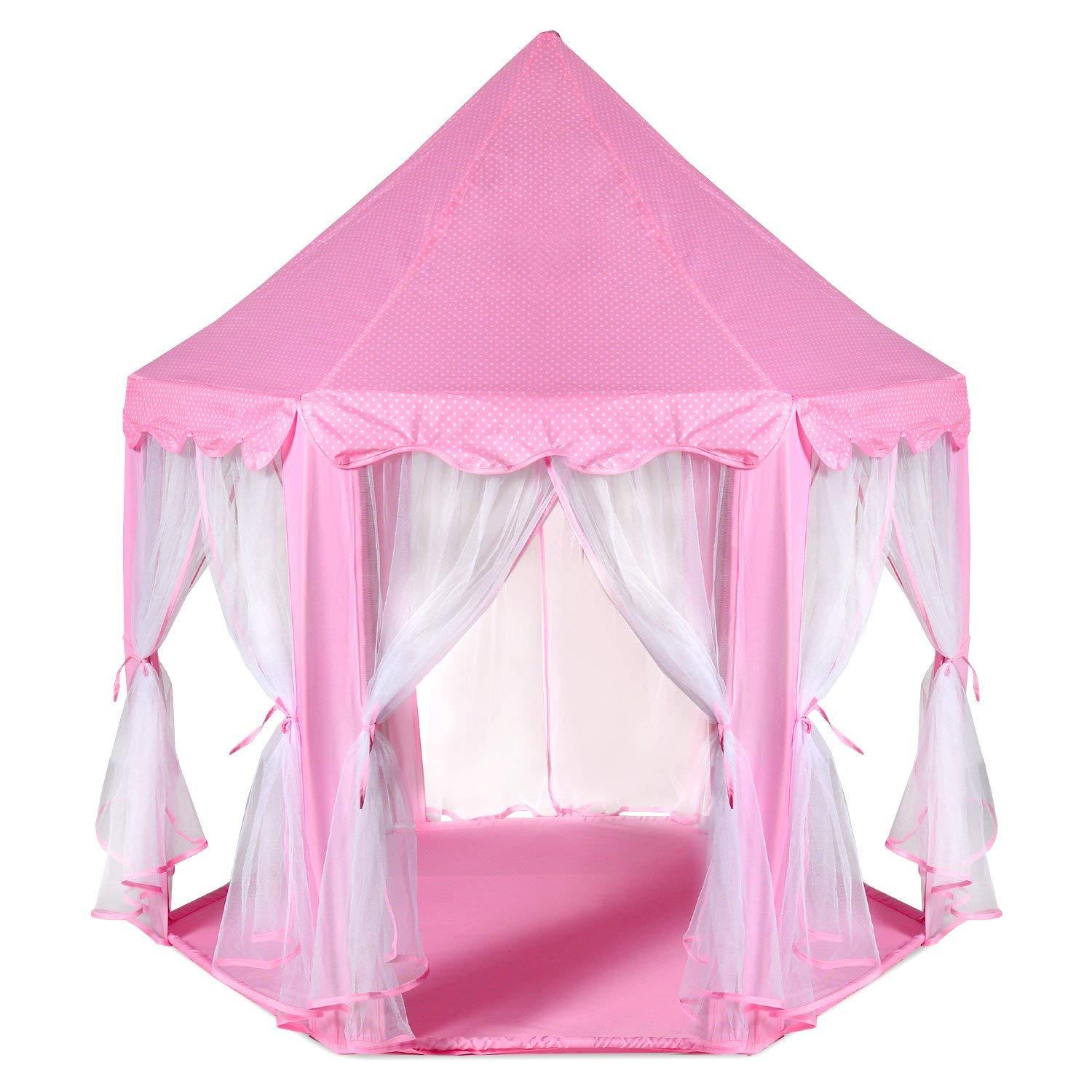 2cb755d55b2 Large Indoor and Outdoor Kids Play House Pink Hexagon Princess Castle Kids  Play Tent Child Play