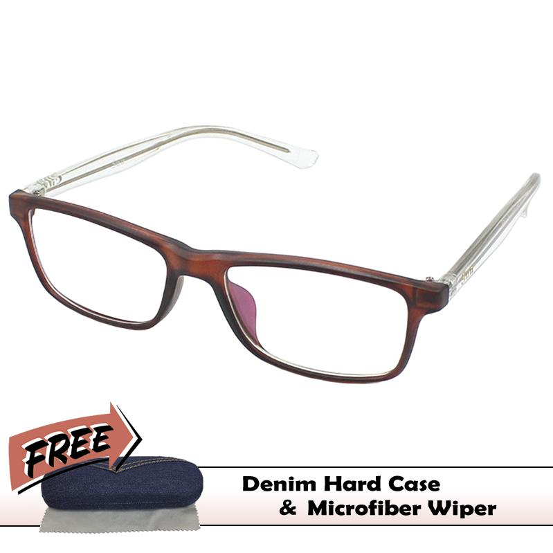 85df907f2b1e Kids Replaceable Clear Lens   Anti-Radiation with Free Case - Brown