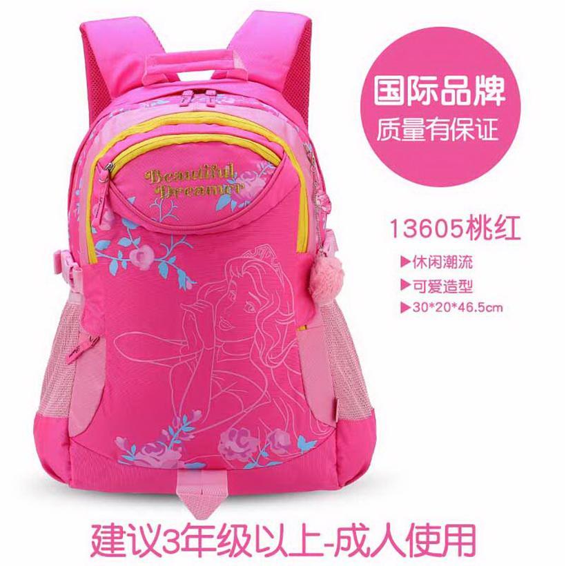 cdb06f0a8b4 Disney Princess School bag bags girl women Young Student's 4-6 Grade 3-5